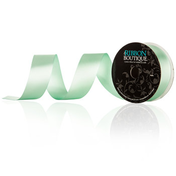 Mint Double-Face Satin Ribbon - 1 1/2""